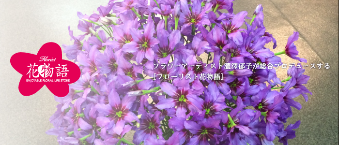 フラワーアーティスト瀧澤郁子が総合プロデュースする[フローリスト花物語]